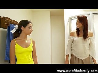 Petite Trinity st clair gets a blowjob lesson from her mom