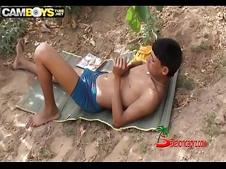 Arab boys outdoor