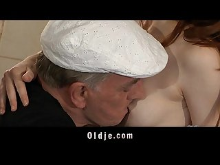 Horny oldmen bangs hard two young sluts in holiday