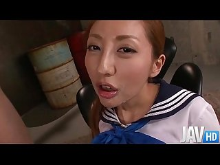 Erena aihara has her sweet pussy toyed inside her school uniform