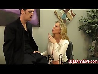 Sexy Milf julia ann milks him on date night excl