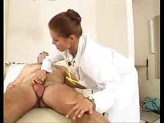 Old man fucks a cute nurse in the ass