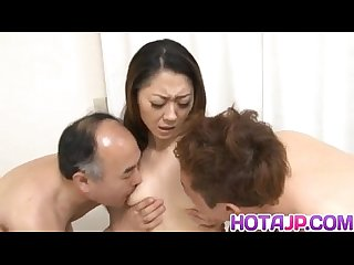 Ruri hayami in stockings rides boners with her hairy coochie