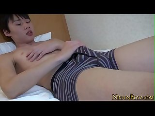 Hung Asian Teen tugging