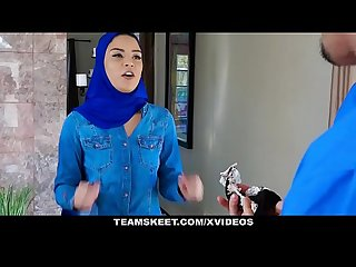 ExxxtraSmall - Hot Muslim Chick Gets Double Cumcockted
