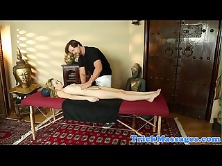Petite teen banged deeply by horny masseur