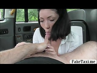 Naughty schoolgirl in pigtails drilled by the driver