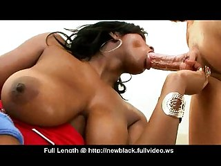Black Girl Inhales cock