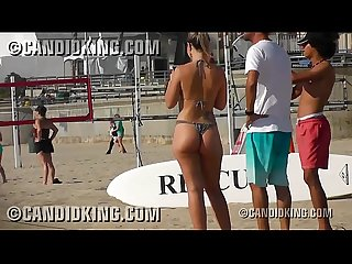 Slim waist big butt PAWG Brazilian in a thong bikini