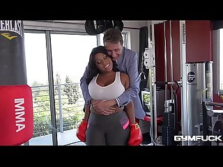 Gym whore Ms Yummy gets an Interracial Fitness Fuck