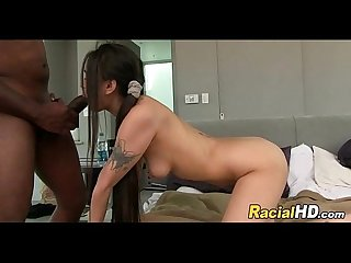 Teen pussy tries some mandingo meat