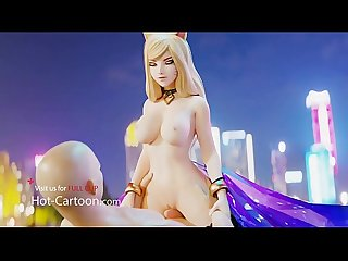 Hot Cartoon Porn Hentai Ahri from League of Legends got fucked FULL HD