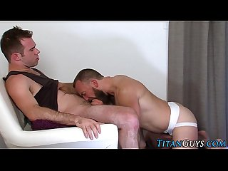 Hung bear fucks and cums
