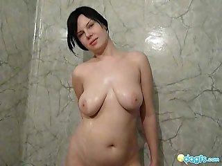 Busty Gf pantera Hot shower and Sex