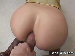 Doing anal in a public washroom pov