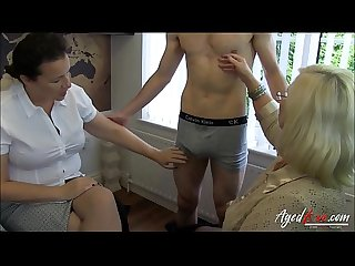 Agedlove two matures threesome hardcore sex