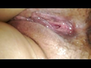 Sleeping wife hairy ass spread wet pussy and asshole after fucking both holes