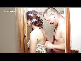Crazy fucking with plumber before Wedding