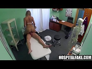 Yummy amateur blonde riding her doctors hard cocke medicine for hot blonde 720 5