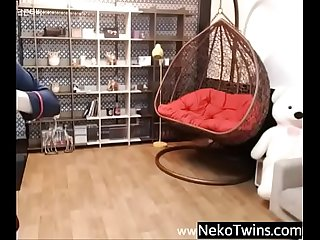 Korean girl strip teasing on cam nekotwins com