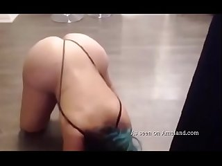 Awesome striptease video from hot chubby girlfriend