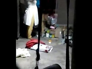 Spying on sister when she was changing her dress