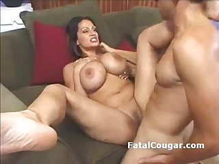 Fat ass older MILF with huge boobs rides a dick hard and deep