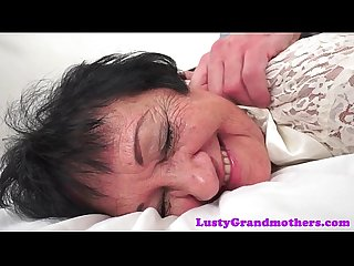 Saggytit grandma fucked after Massage