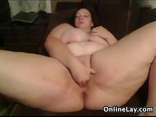 Bbw playing with her body