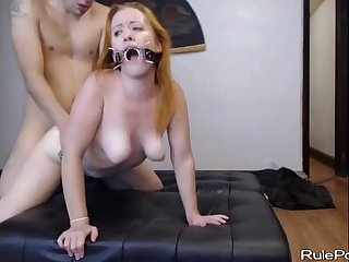 Blonde slut loves rough bdsm sex