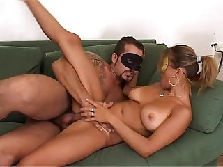 Real sex! Husband fucks her pretty wife!