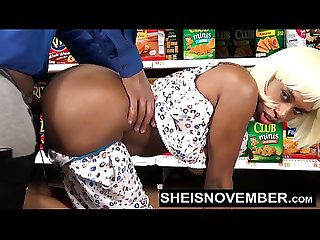 Pornstar Sheisnovember Big Ass Doggystyle & Big Tits Biting Cock In Walmart HD