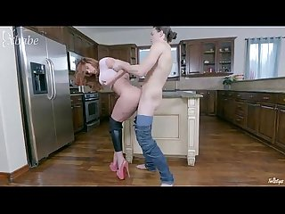 Sabrina cyns fucked in the kitchen