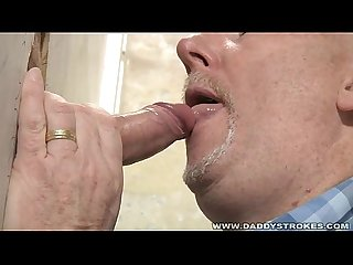 Daddys gloryhole suck and jerk