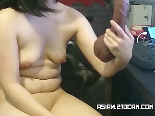Hot asian slut toying her pussy more asian 21ocam com