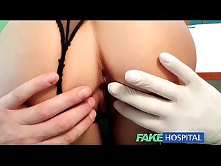 Fakehospital beautiful patient prescribed a good wet fucking on desk as cure