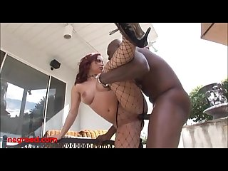 Negroed.com Redhead in fishnets and leather big black dick up asshole anal