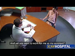 Gabrielle goes for a job interview with the doctor turns into wild sex
