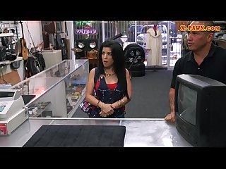 Pervert pawnkeeper fucking a hot cuban honey in the pawnshop