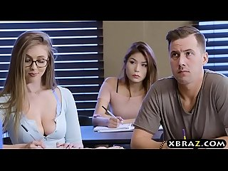 Bright big tits student Lena paul oral and fucking in class