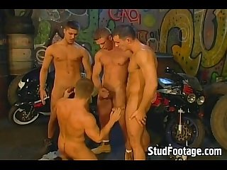 Sexy gay bikers love getting dirty