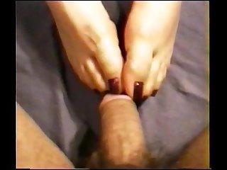 Cailleach purple nail footjob