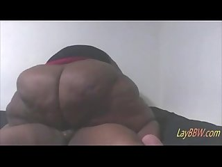 Ebony ssbbw with huge Ass fucking her date