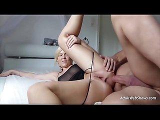 German blonde earns an anal creampie adultwebshows com