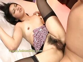 Hairy Asian Girl Hammered In The Ass