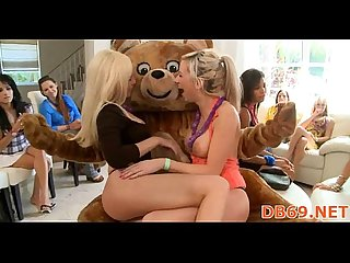 Fuck with teddy bear at party