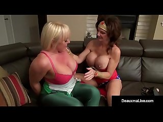 Dynamic deauxma sucks fucks her super hero alexis golden