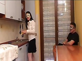 Maid at home, mad for cock
