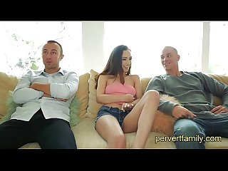 Pervertfamily step brother and best friend fuck step sister