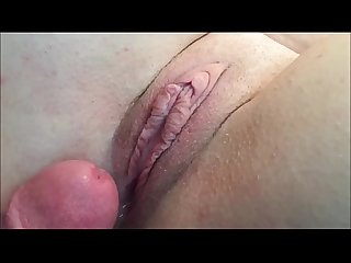 Cumming on her incredibly hot pussy